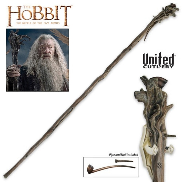 Staff of Gandalf the Grey with Pipe